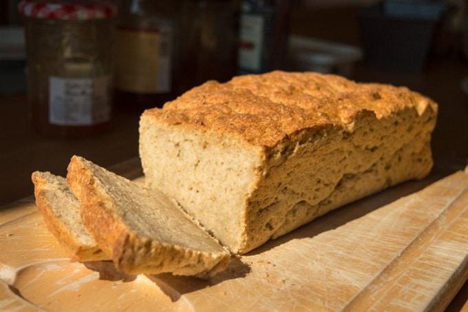 Gluten Free Oven Baked Bread Sliced
