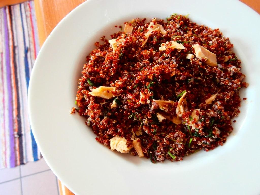 Fresh Bonito Red Quinoa Salad