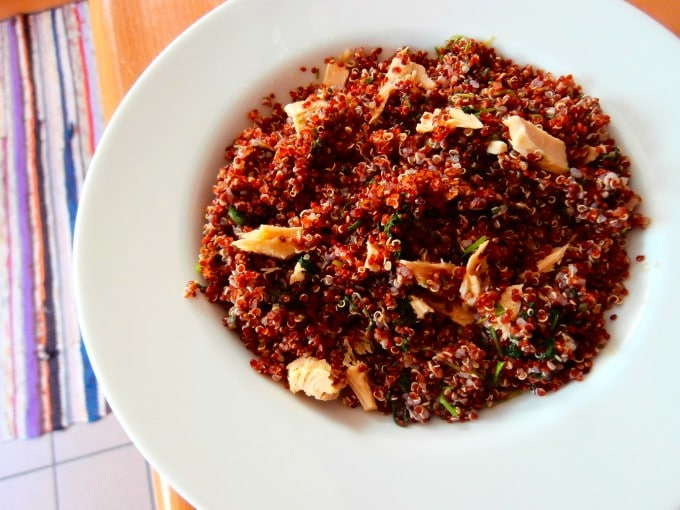 Fresh Bonito Red Quinoa Salad | mygutfeeling.eu