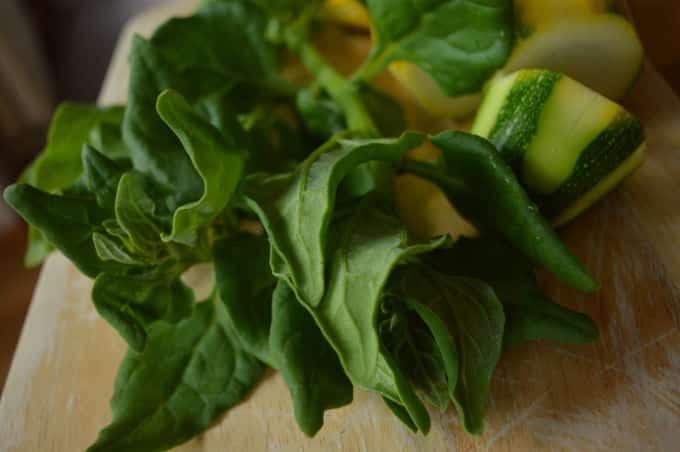 Yellow Zucchini Spinach Creamy Soup