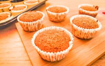 This Low Fodmap Pumkin Tangerine Muffins recipe is also vegan and gluten free!