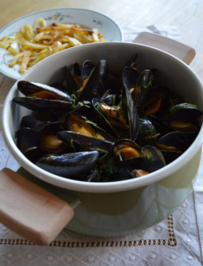 Low Fodmap Belgian Mussels and Fries Recipe