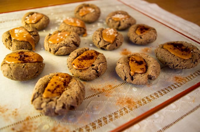 Gingerbread Thumbprint Cookies | mygutfeeling.eu #glutenfree #dairyfree #eggfree