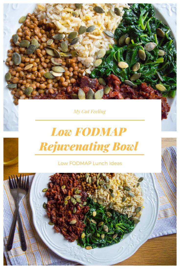 Low fodmap rejuvenating bowl lunch recipe idea