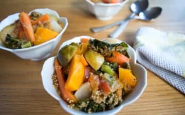 Estufado de Legumes com Quinoa Low FODMAP | mygutfeeling.eu/pt #vegan #vegetariano
