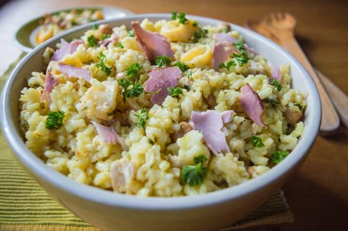 Calamari Rice Pilaf with Ham | mygutfeeling.eu #mediterranean #lowfodmap