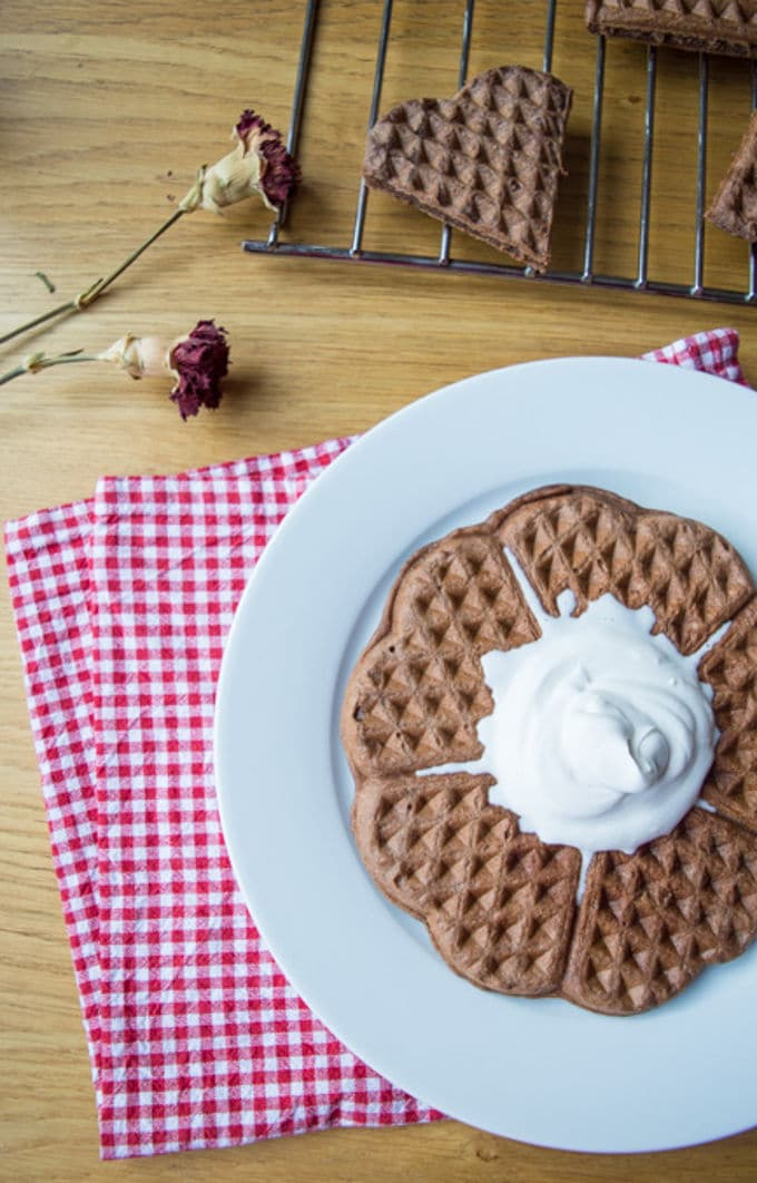 Chocolate Oat Waffles | mygutfeeling.eu #vegan #glutenfree #lowfodmap