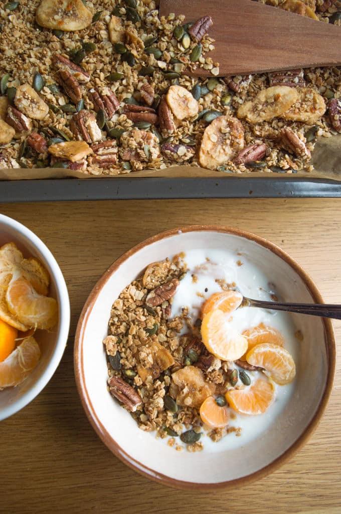 Citrus Granola / mygutfeeling.eu #glutenfree #lowfodmap #vegan