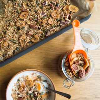Granola Low FODMAP | mygutfeeling.eu #glutenfree #lowfodmap #vegan