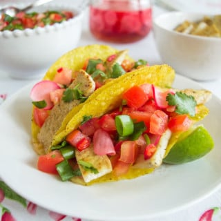 Tacos Mexicanos Low FODMAP com Tofu