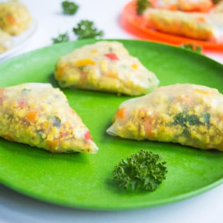 Chicken Summer Samosas #glutenfree #lowfodmap