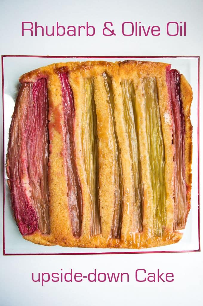 Rhubarb and Olive Oil upside-down Cake / mygutfeeling.eu #glutenfree #lowfodmap