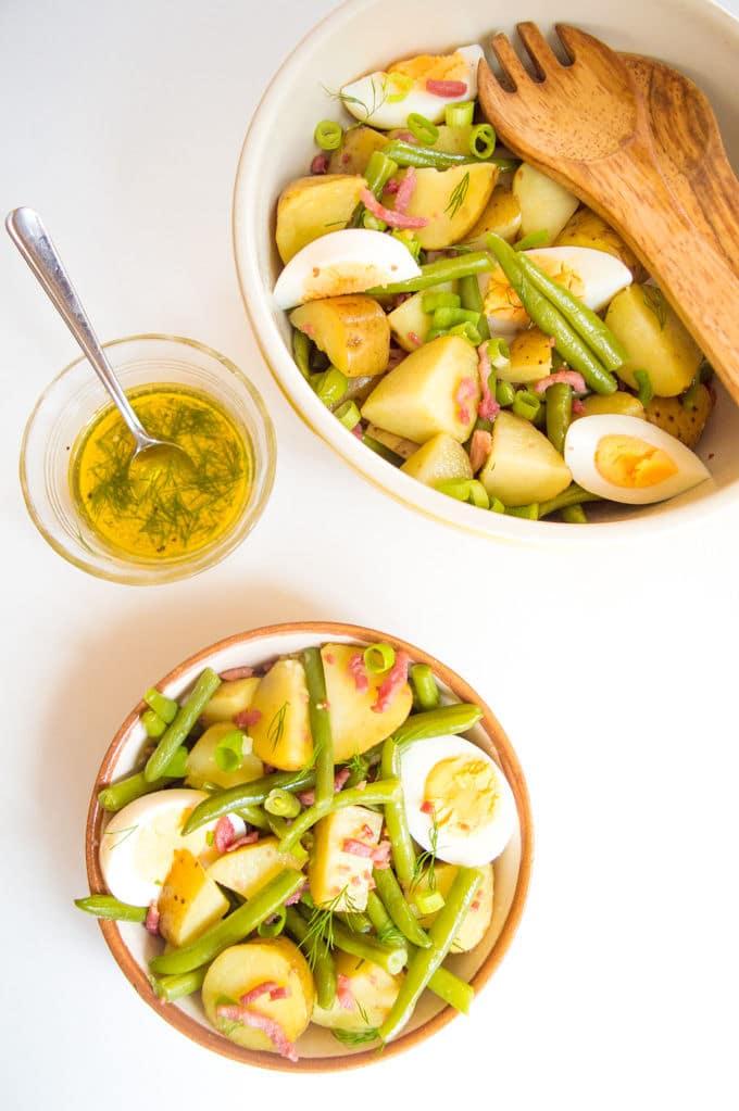 Salade Liègeoise, aka Liege Potato Salad / mygutfeeling.eu
