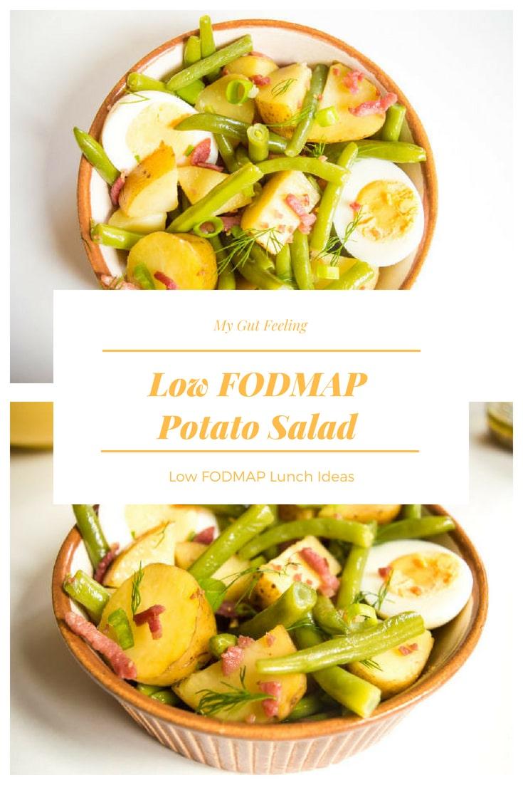 Low fodmap potato salad lunch recipe idea