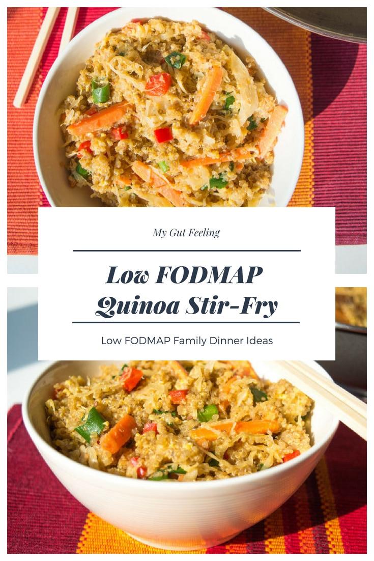 Low fodmap quinoa stir fry dinner recipe idea