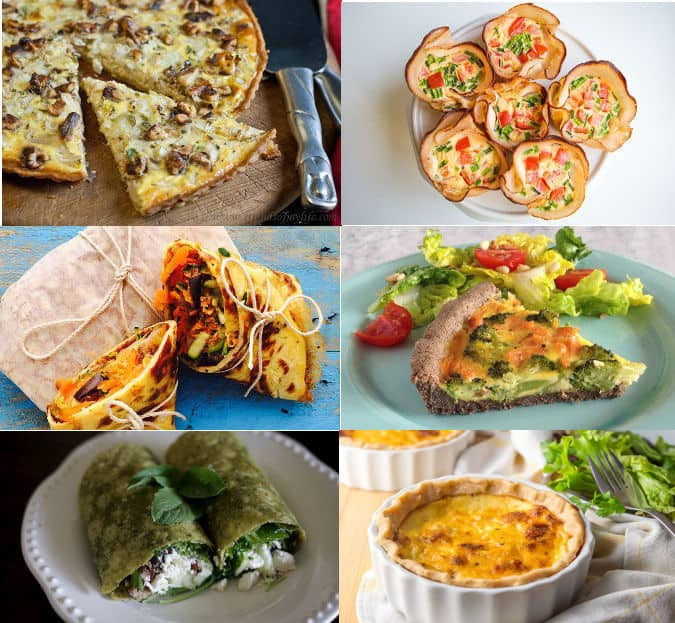 Six low fodmap quiches and wraps recipes for work