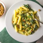 Pasta w/ Sauteed Spinach, Ricotta and Walnuts #lowfodmap #glutenfree / mygutfeeling.eu