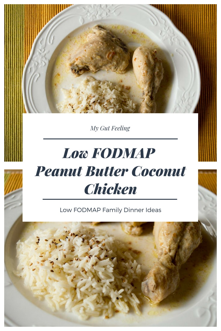 This Low Fodmap Peanut Butter Coconut Chicken recipe is ideal for a family dinner
