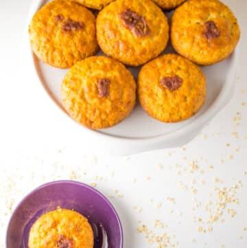 Receita fácil e saudável de Muffins de Banana e Nozes Low FODMAP