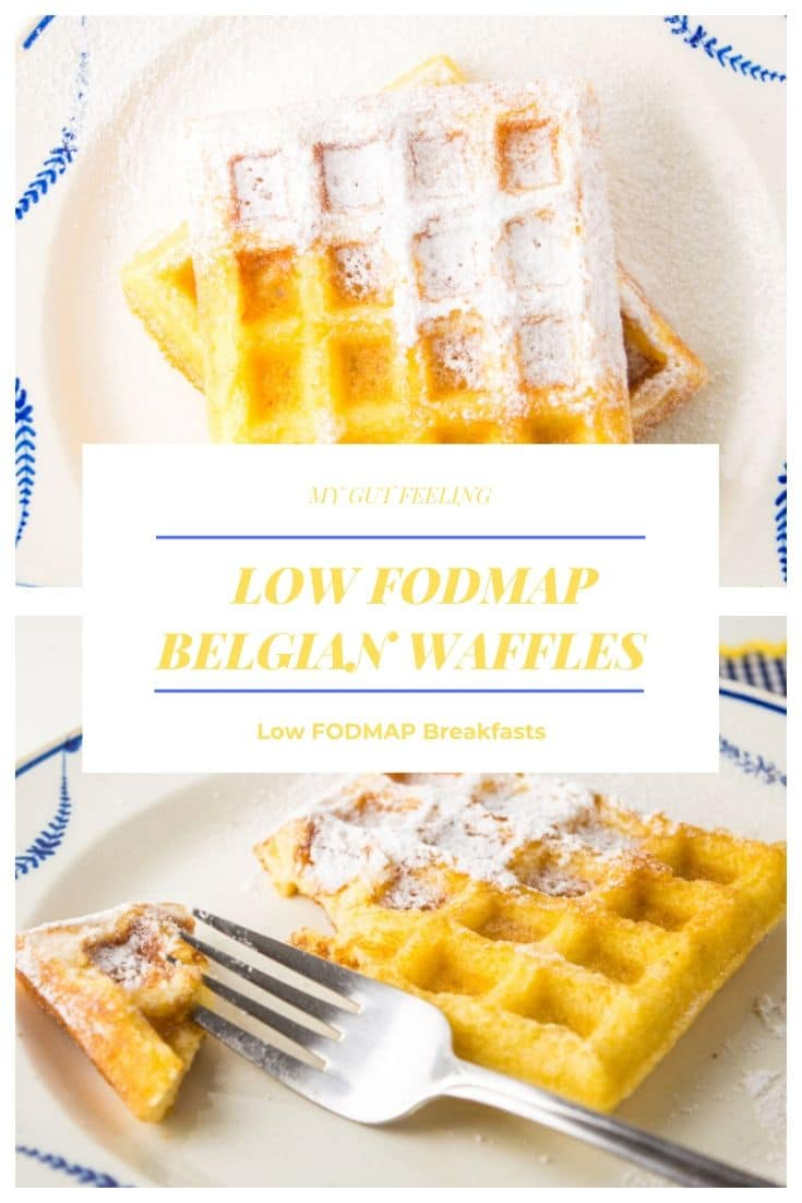 This Low Fodmap Belgian Waffles Recipe is easy and makes delicious, homemade, Belgian waffles.