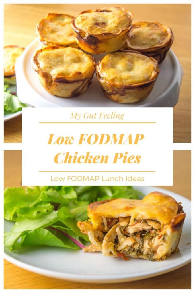 Easy low FODMAP leftover chicken or turkey pies recipe