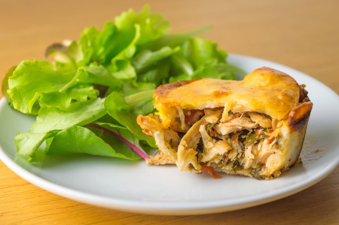 Easy low FODMAP leftover chicken or turkey pies recipe