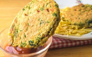 Receita fácil de hambúrgueres vegetarianos low FODMAP, ideais para levar para o trabalho!