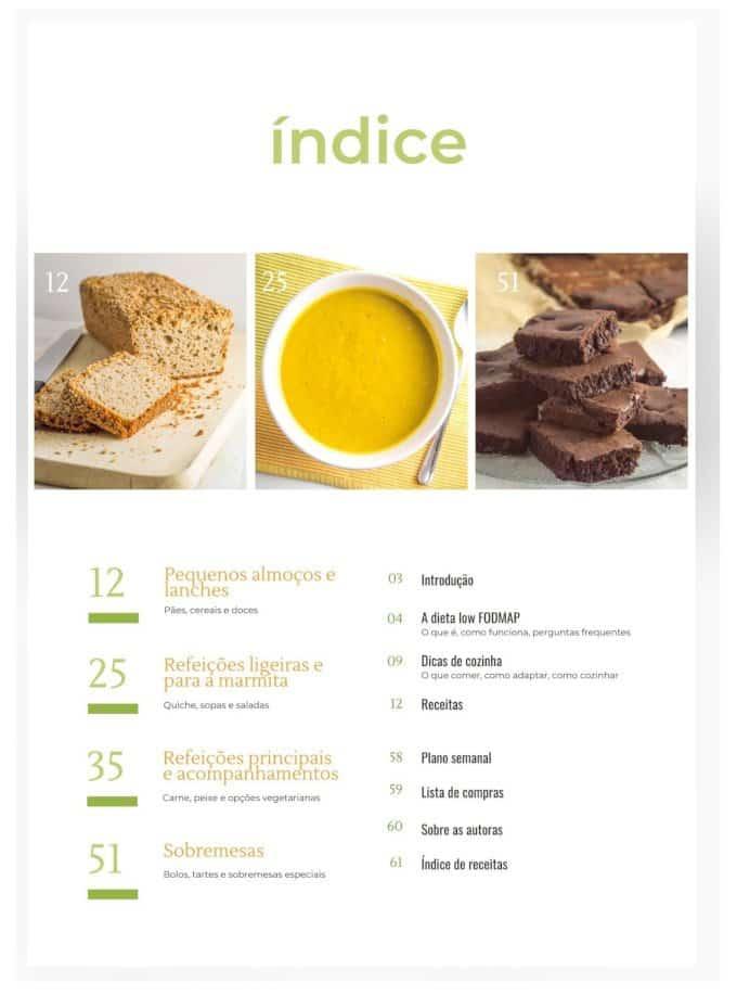Imagem do índice do livro