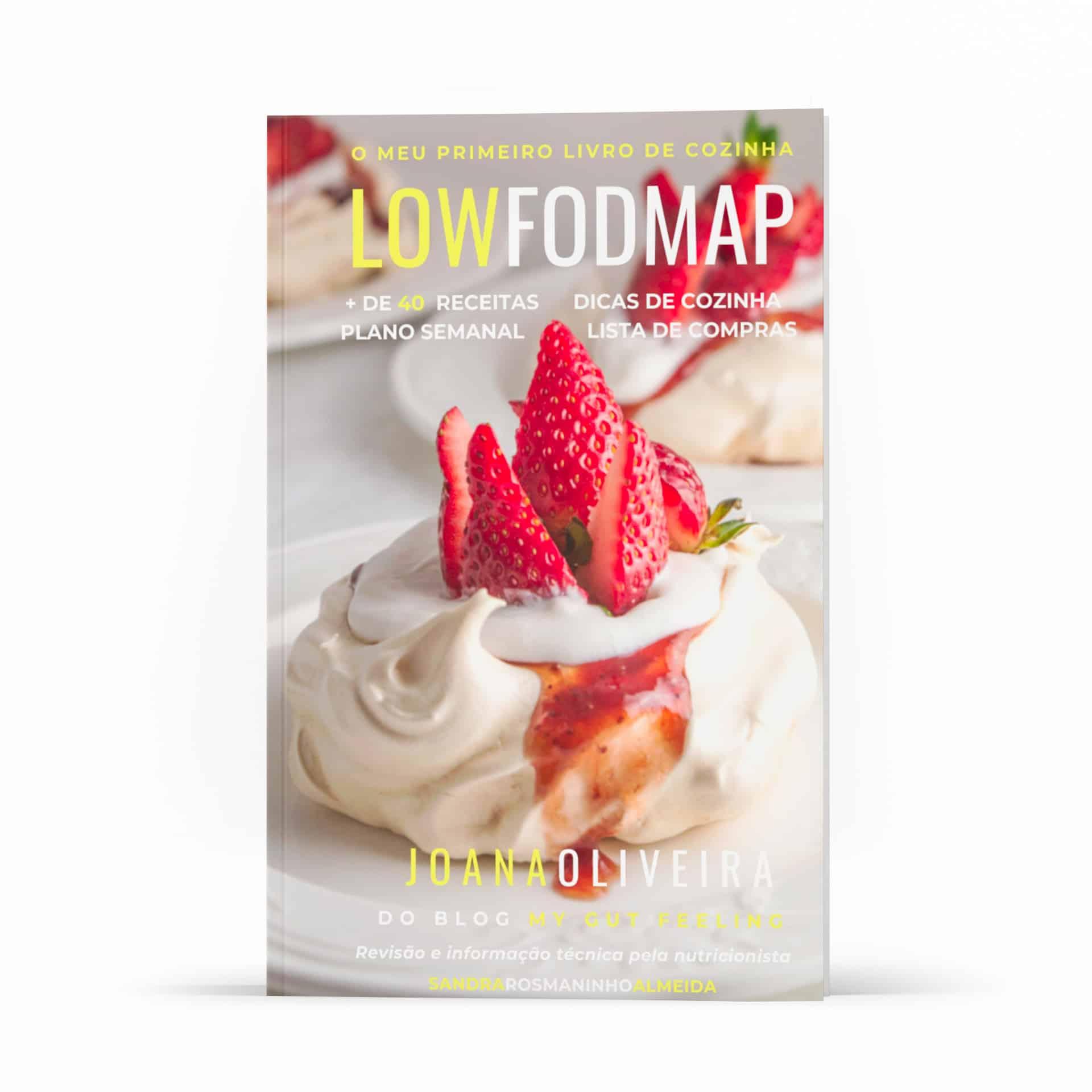 Imagem da capa do meu primeiro livro de cozinha low FODMAP