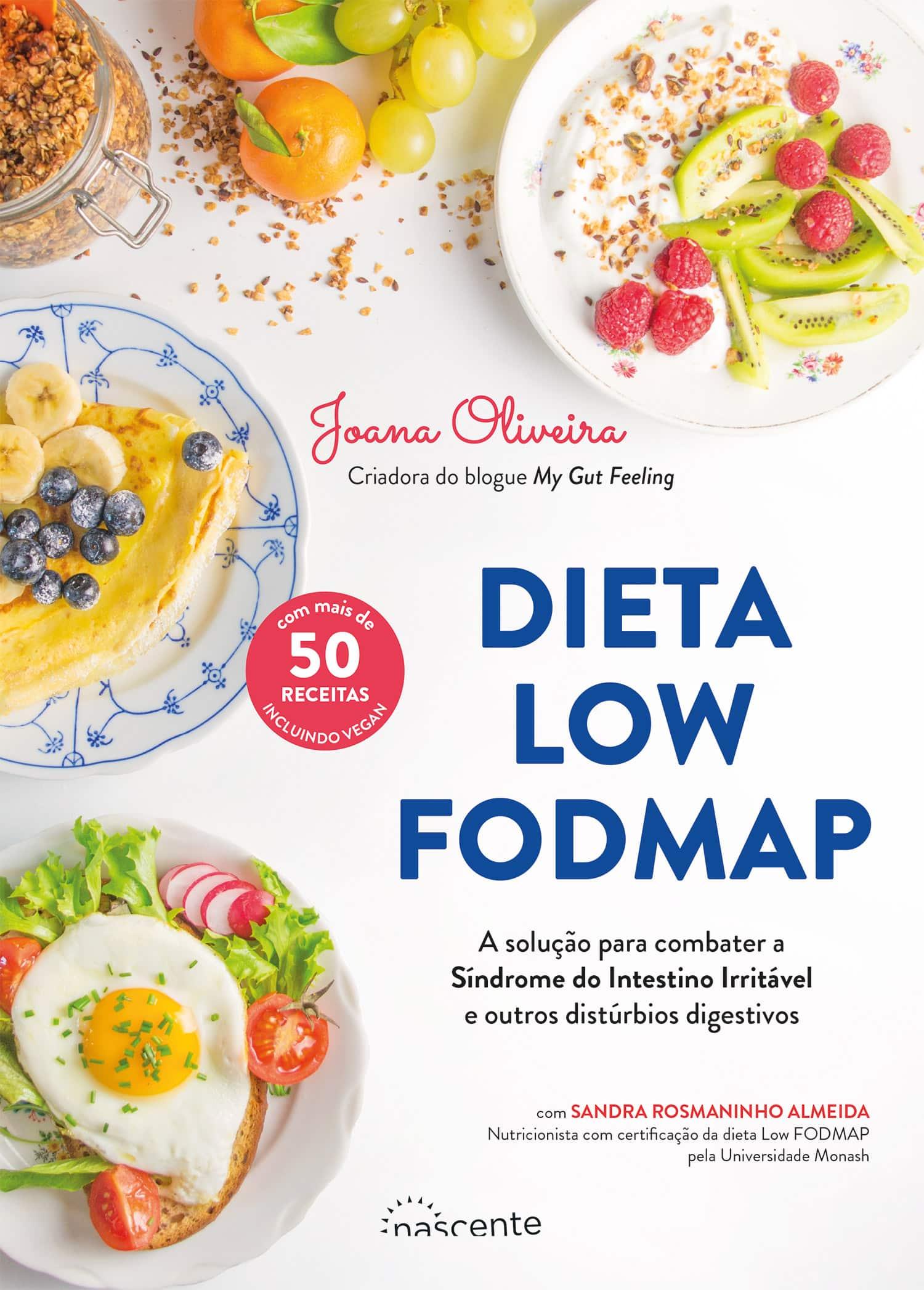 Capa do livro dieta low fodmap com três refeições