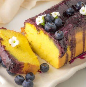 a slice of sponge cake